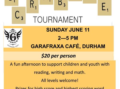 Scrabble Tournament Fundraiser