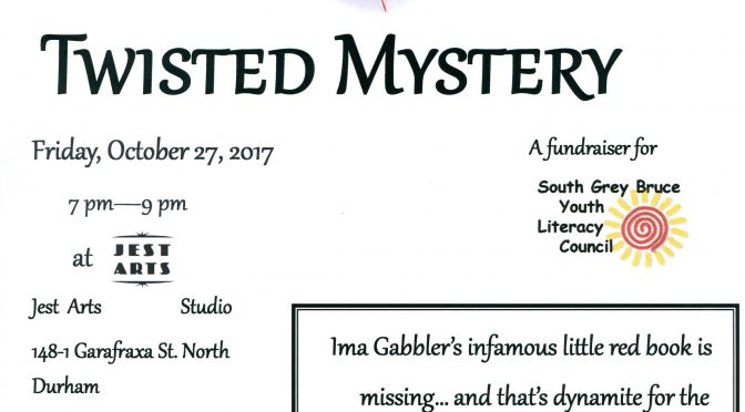 Twisted Mystery Fundraiser, Oct. 27th